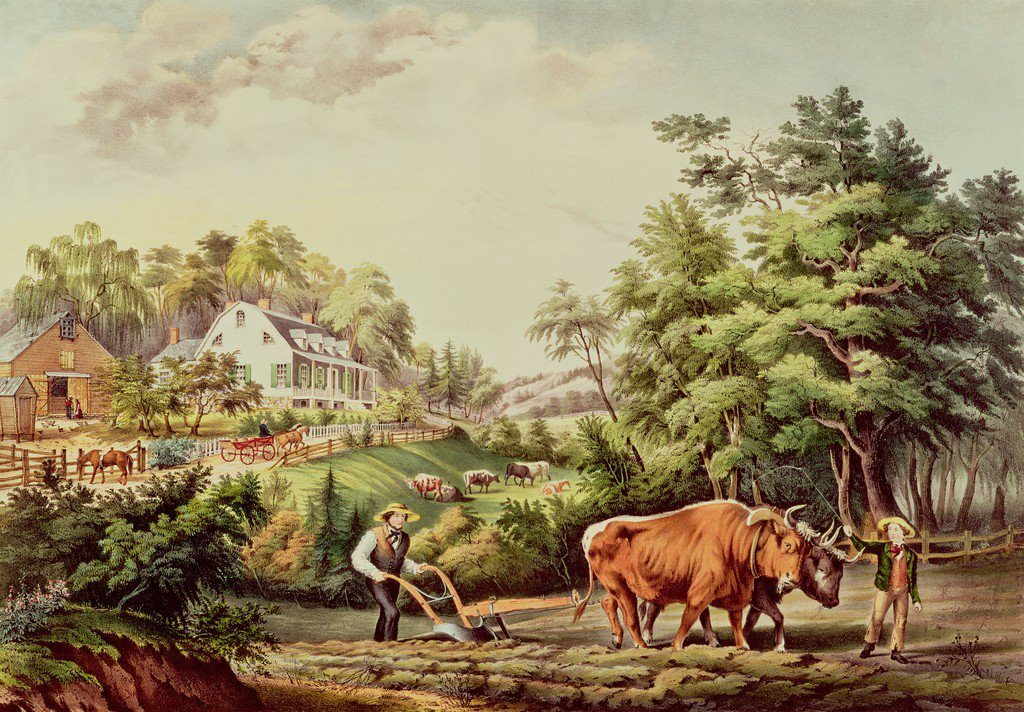 Currier and Ives, American Farm Scenes